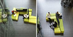 Practical Diagonal Lobby Furniture for Indoor Public Spaces - http://freshome.com/2010/09/27/practical-diagonal-lobby-furniture-for-indoor-public-spaces/