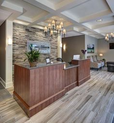 New Millennium Medical Integrated Medicine Lobby Design Doctors Office Decor, Medical Office Decor, Dental Office Design, Office Interior Design, Interior Exterior, Doctor Office, Office Designs, Office Ideas, Modern Interior