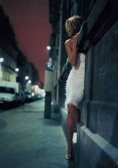 """Night Life"" Amber Valletta by Nathaniel Goldberg for Vogue UK 1999"