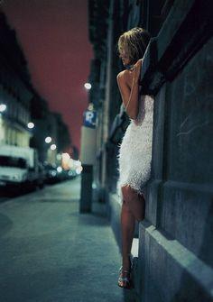 """Night Life"" Amber Valletta by Nathaniel Goldberg for Vogue UK 1999"