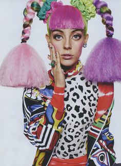 My very beautiful friend Chloe Norgaard wearing a dope Jeremy Scott jumper in Miss Vogue