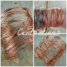 Copper Wire Wrapped Bracelet Cuff by Centsations on Etsy,
