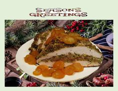 Candied Kumquats over Pistachio Crusted Turkey Breast - Good Food And Treasured Memories Turkey Stuffing, Stuffing Mix, Pistachio Bread, Roasting Times, Stuffed Turkey, Whole Turkey, Turkey Breast, Great Recipes, Good Food