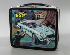 JAMES BOND SECRET AGENT 007 Lunch Box - metal 1966