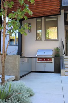 Outdoor kitchen, Vancouver, BC #outdoorkitchen #BBQ #outdoorliving