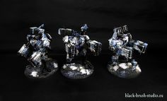 Black Brush Studio - Miniature painting services: Tau Empire: XV88 Broadside Battlesuit in Winter Camo Scheme