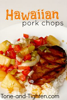 Hawaiian Grilled Pork Chops Recipe on MyRecipeMagic.com- only 5 Weight Watchers Points per serving (not including rice)