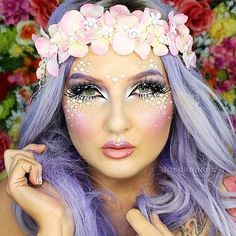 Lovely Lilac: Get more Halloween beauty inspiration from Jordan Hanz here.