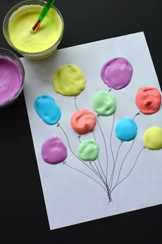 This puffy paint recipe was such a fun and EASY craft for the kids to do! They loved the texture and had so much fun mixing everything together! Easy Crafts For Kids, Toddler Crafts, Projects For Kids, Diy For Kids, Fun Crafts, Craft Projects, Arts And Crafts, Puffy Paint, Preschool Crafts