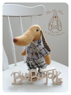Куклы и игрушки ручной работы. Ярмарка Мастеров - ручная работа Собака Мокко с кофейными ушами. Handmade.