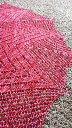 Spring Petals Shawl by Melissa A Johnson | malabrigo Sock in Light of Love