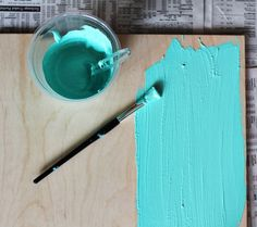 Make your own chalkboard paint in any color! This may be the greatest discovery ever.  :D