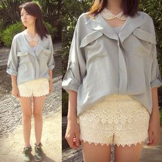 Delicate Vanilla (by Eunice S) Beautiful shorts