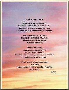 serenity poem - Google Search