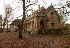 decayed mansion in Chotysany, Czech Republic