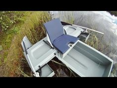 Short overview of a portable mini boat. Mini Bass Boats, Boat Pics, Duck Blind Plans, Pt Boat, Plywood Boat Plans, Aluminum Boat, Construction, Garage Plans, Speed Boats