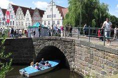 Gracht am Malerwinkel in Friedrichstadt / Frederiksstad. Germany