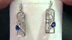 "Cairn Scotland Charles Rennie Mackintosh Sterling Silver Earrings ""Saltire"" CRMA596 - http://videos.silverjewelry.be/earrings/cairn-scotland-charles-rennie-mackintosh-sterling-silver-earrings-saltire-crma596/"