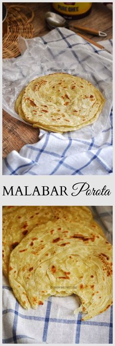 Malabar Porota, Parota or Barota is a layered flatbread made from all purpose four which required a lot of kneading in order to get a soft dough. This flat bread is flaky and fluffy, crisp, yet soft. This is a delicacy of the Malabar region of North Kerala.
