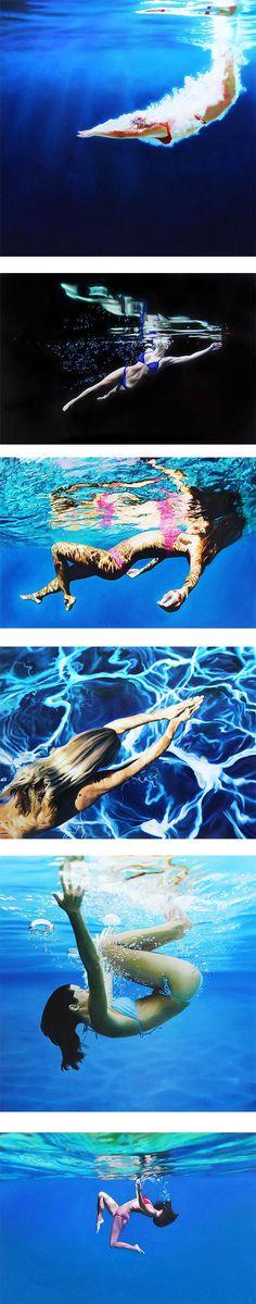 O talentoso norte-americano #MattStory cria #pinturas tão incríveis que parecem fotografias tiradas do mundo real #criatividade #arte #pintura #água