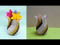 Paper Flower Vase - Tutorial 1 - YouTube
