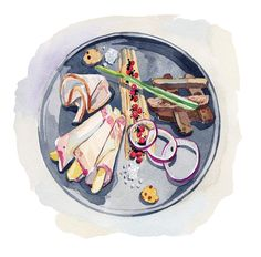 Food Illustrations for Traveller Magazine by Holly Exley, via Behance
