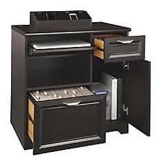 Realspace Magellan Tech Station 30 H x 29 25 W x 21 D Espresso by Office Depot & OfficeMax