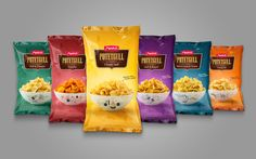 The redesign of the classic potato chips bag Potetgull with specially-designed bowls.