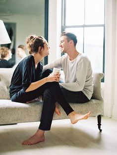 intimate engagement session at home | image via: once wed.