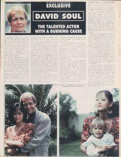 David Soul Paul Michael Glaser, David Soul, Starsky & Hutch, Bay City, Magazine Articles, Tv Shows, Memories, Actors, Highlights
