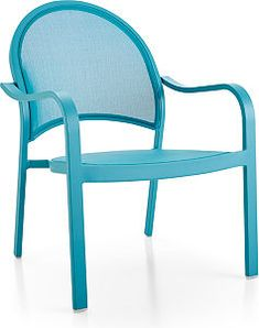 The Lanai Aqua Mesh Lounge Chair is a Crate and Barrel exclusive. Metal Patio Furniture, Aluminum Table, Kick Backs, Lanai, Chair And Ottoman, Crate And Barrel, House Colors, Crates, Color Pop