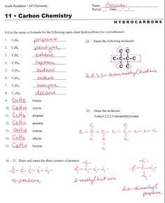 hydrocarbon nomenclature | Worksheet: Alkane Nomenclature ...