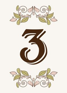 Botanical Bliss Table Numbers - Hoopla House