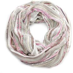 Women's Festival Bliss Shimmer Infinity Scarf, Boho Loop Shawl... (1.550 RUB) ❤ liked on Polyvore featuring accessories, scarves, white infinity scarves, circle scarf, infinity loop scarves, round scarves and loop scarf