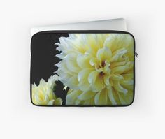 Laptop Sleeve - Yellow Dahlia from A Gardener's Notebook by Douglas E.  Welch