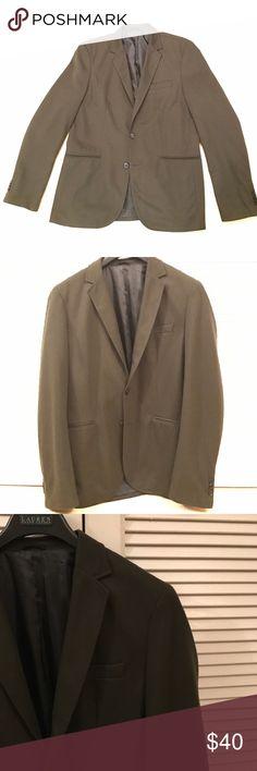 Zara Men's Olive Green Blazer Dark Olive Green Men's Blazer. Deep Grey Buttons. Perfect Condition- No Fray, Stains, or Rips. Size USA Men's XXL. WORN ONLY ONCE. Zara Suits & Blazers Sport Coats & Blazers