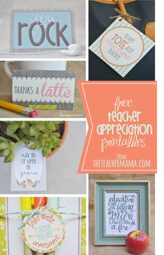 free teacher appreciation printables {roundup}