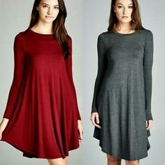 Jenny Assymetrical Dress Rounded hems, semi-loose fit. Heavy weight knit jersey that is very soft and drapes well while offering a great stretch.   Available in charcoal  Sizes SML Dresses Asymmetrical