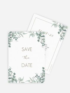"""Save-the-Date Karte """"Soft Greenery"""" : Save-the-Date Karte Soft Greenery bei der Kartenmacherei Summer Wedding, Dream Wedding, Save The Date Karten, Decoration Chic, Greenery, Wedding Inspiration, Wedding Ideas, Wedding Invitations, Dating"""