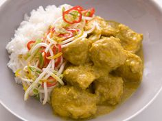 Malaysian Chicken Curry with Steamed Jasmine Rice