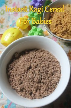 Instant Ragi Ceralac Recipe - No Cook Finger Millet Cereal For Babies - Yummy Tummy Cereal Recipes, Baby Food Recipes, Indian Food Recipes, Cooking Recipes, Cooking Ideas, Millet Recipes, Porridge Recipes, Healthy Toddler Meals, Kids Meals