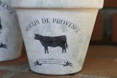 Cow Vintage Inspired French White Washed by ChickDesignBoutique, $15.00