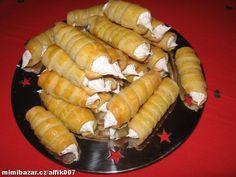 RYCHLÉ KREMROLE Slovak Recipes, Czech Recipes, Ethnic Recipes, Sushi, Deserts, Dishes, Baking, Pastries, Food