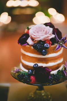 Fruit + floral topped: http://www.stylemepretty.com/california-weddings/long-beach-ca/2015/11/03/mod-geometric-rustic-wedding-at-the-loft-on-pine/ | Photography: OneLove - http://www.onelove-photo.com/