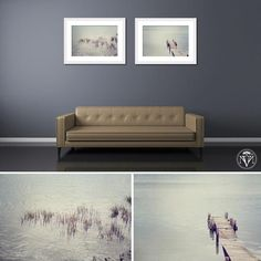 The simplest subjects make the best images 😉 Water plants print set in white frames