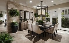 Nice travertine floors and stone wall combo