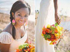 Neon Beach Wedding Inspiration | Green Wedding Shoes Wedding Blog | Wedding Trends for Stylish + Creative Brides