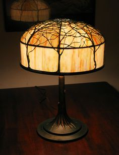"""The """"Tree Lamp"""", a beautiful accent  to your home office or study."""