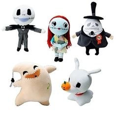 b460b584f185a NIGHTMARE BEFORE CHRISTMAS PLUSH SET OF 5. INCLUDES   JACK
