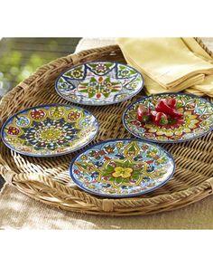 Talavera Melamine Salad Plates